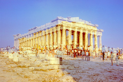 Exposure accidents can produce images that are far more interesting than properly exposed shots. My father double exposed the Parthenon when we visited it in August of 1969.  I am sure this was not what he intended but the resulting superposition of times makes you look twice. When tourists visit ancient sites they are indulging in a bit of imaginary time travel. This double exposure of instants separated by a handful of seconds is of no great value but imagine a camera that could double expose the present with what you could see from this very spot when the Parthenon was first built. The resulting image would instantly become the most valuable photograph ever taken.
