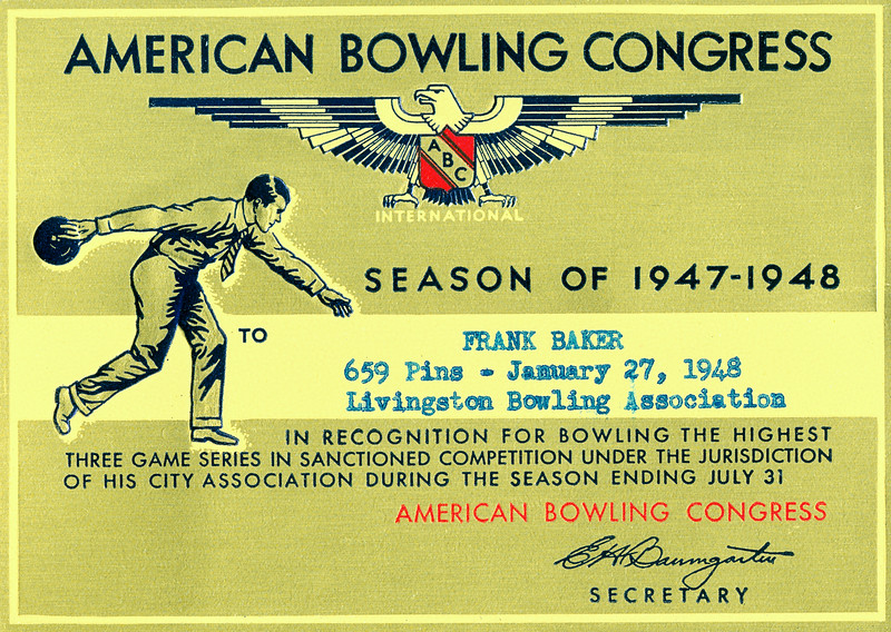 Who knew there was a bowling congress? You can mock bowling all you want but the criterion for excellence is clear: count the damn pins. With such clarity, I'm willing to bet everything I have at ten to one odds that this congress was (is) far less corrupt than the one in DC.