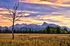 Prairie Sunset. Abraham Lake, Alberta