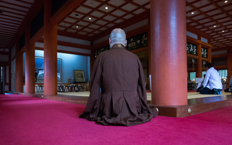 Buddhist Monk, Hiraizumi, Japan