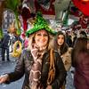 Christmas Tree hat, Plaza Mayor, Madrid, Spain