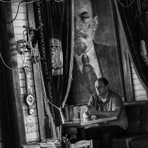 Man in a Russian bar, Saaremaa, Estonia