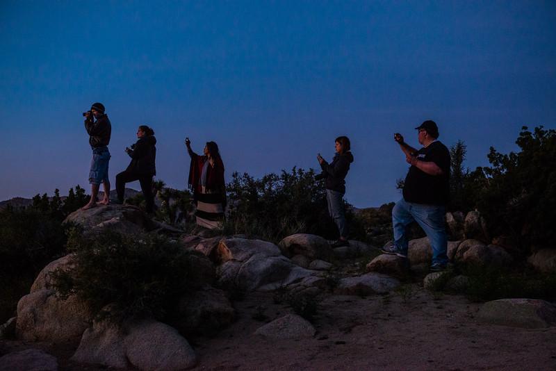 Shooting the sunset, Joshua Tree National Park, California