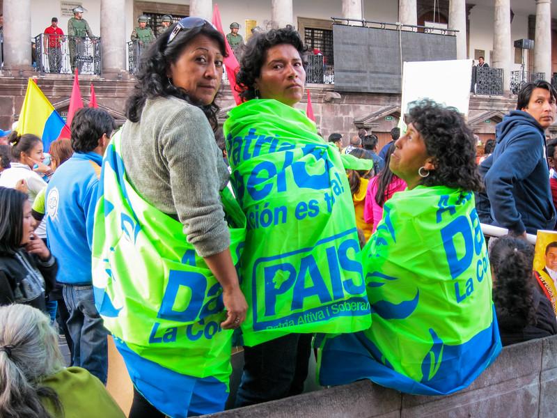Demonstrators, Quito, Ecuador