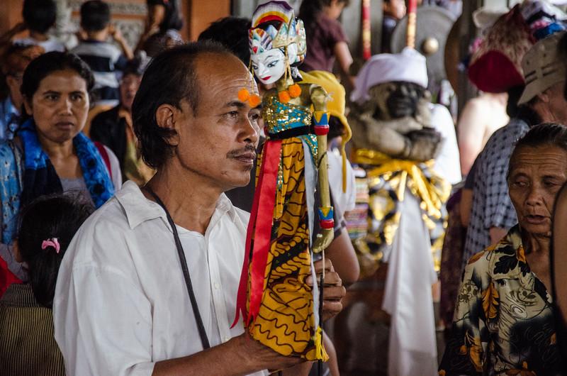 Man with a puppet, Ubud, Bali