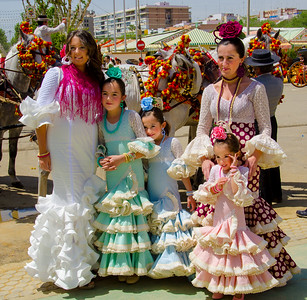 Family at the Feria de Abril, Sevilla, Spain