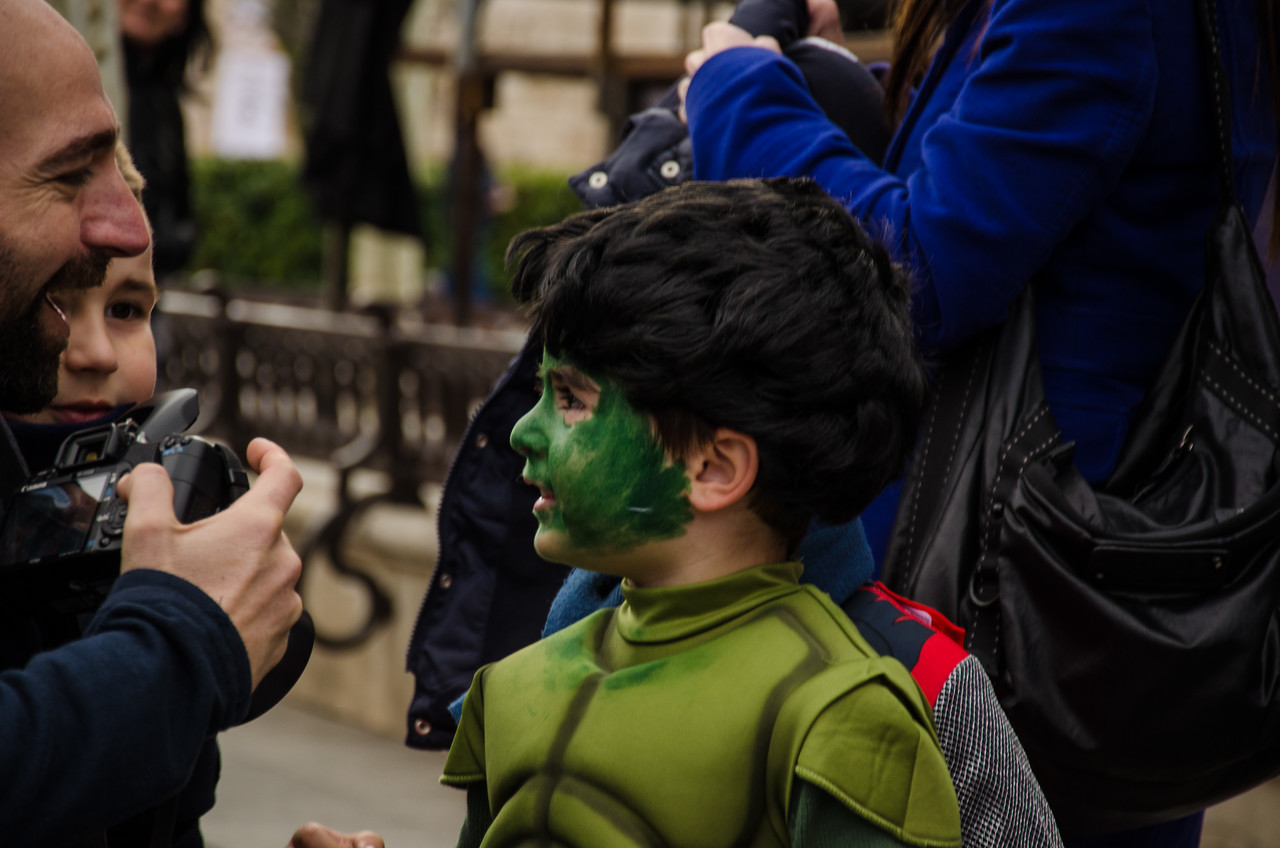 Child in costume, Alcala de Henares, Spain