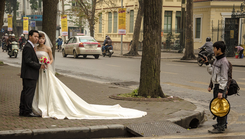 Wedding photos, Hanoi, Vietnam