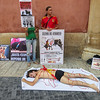Bullfight protest, Murcia, Spain