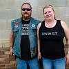 Motorcycle couple, Andover, South Dakota