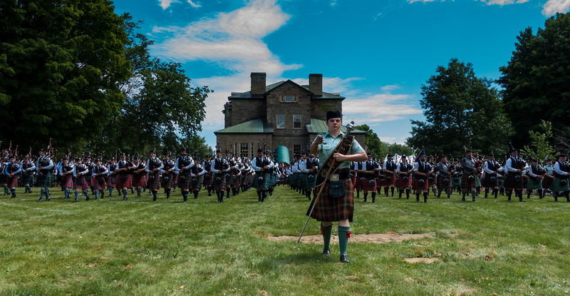 Bagpipers, Highland Games, Fredericton, New Brunswick, Canada