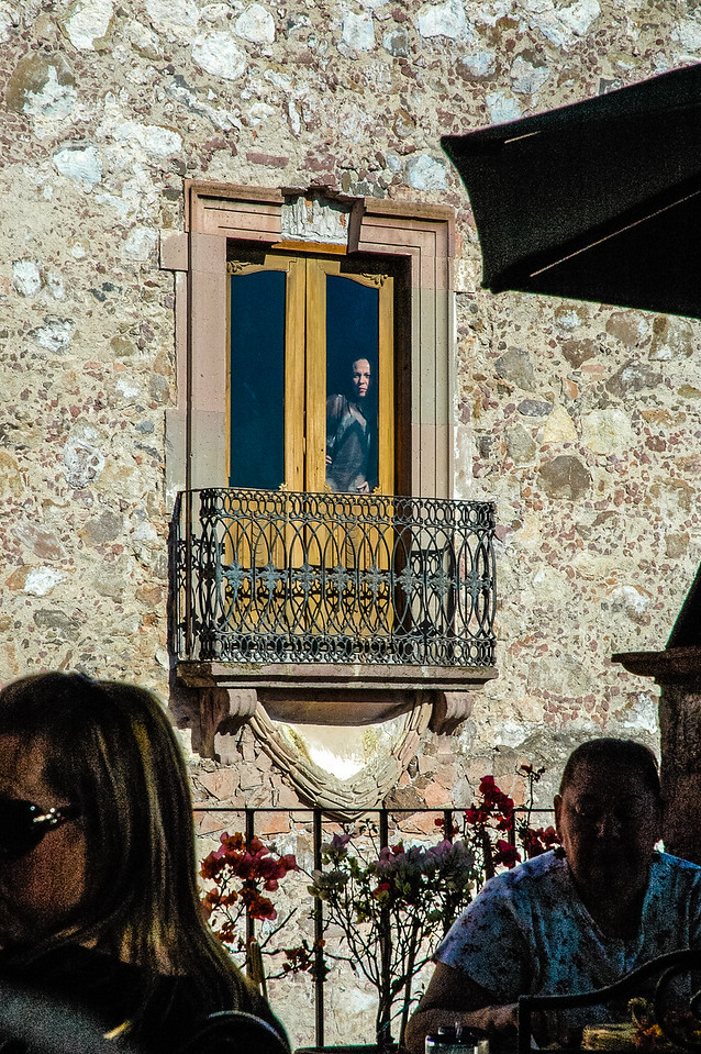 Woman in the window, San Miguel de Allende, Mexico
