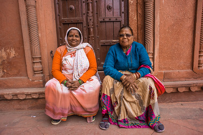 Two friends, Agra Fort, India