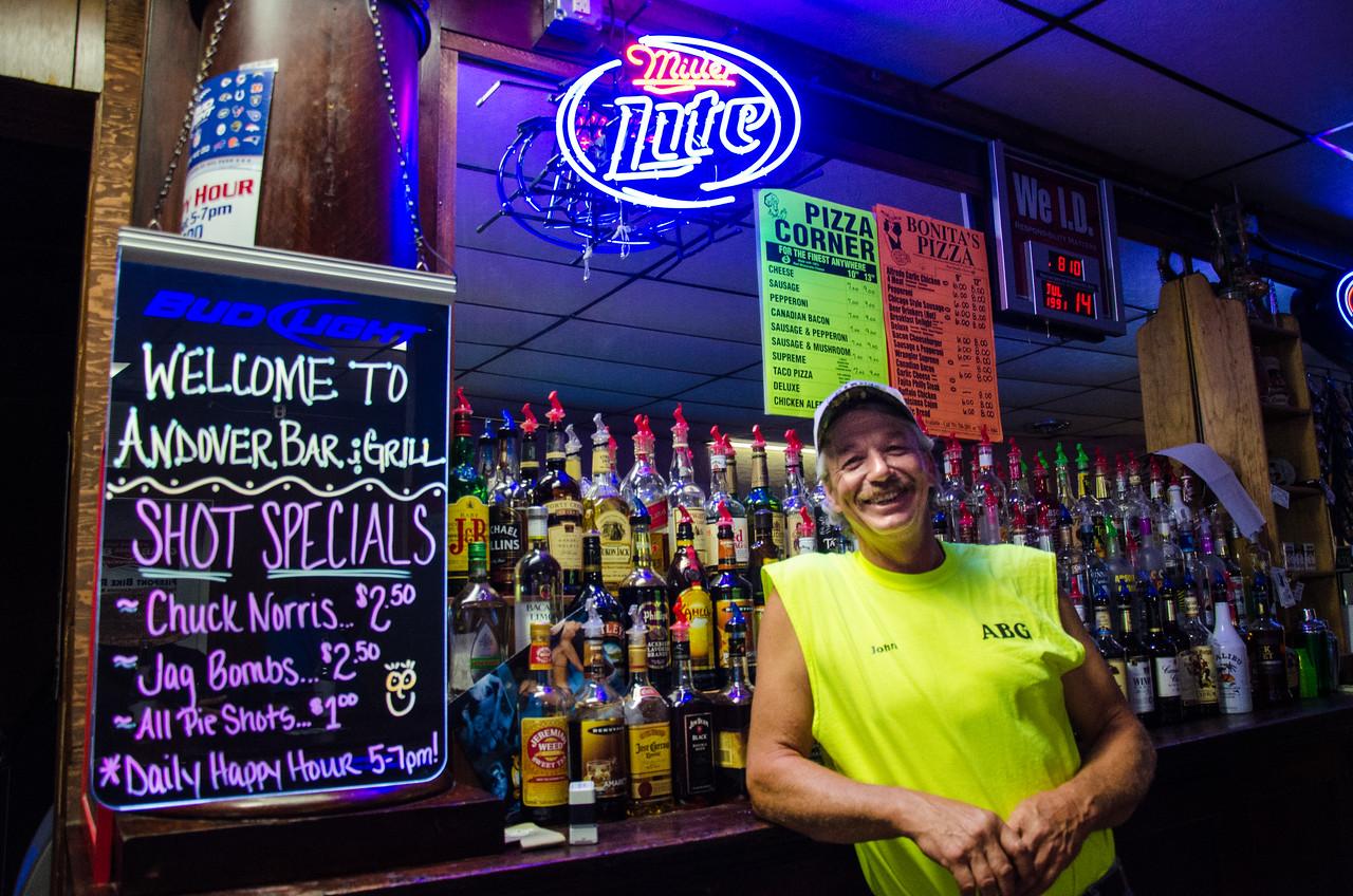 Bartender, Andover, South Dakota