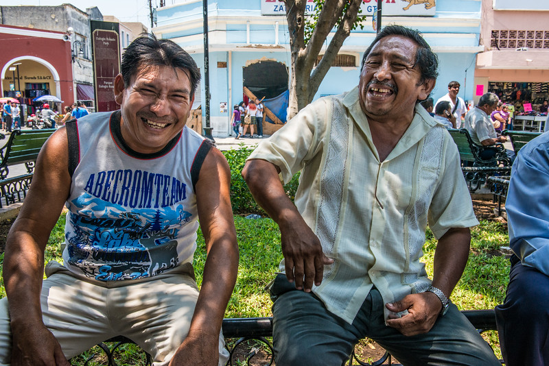 Amigos in the square, Merida, Mexico