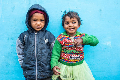 Brother and sister, Ranchha village, Madhya Pradesh, India