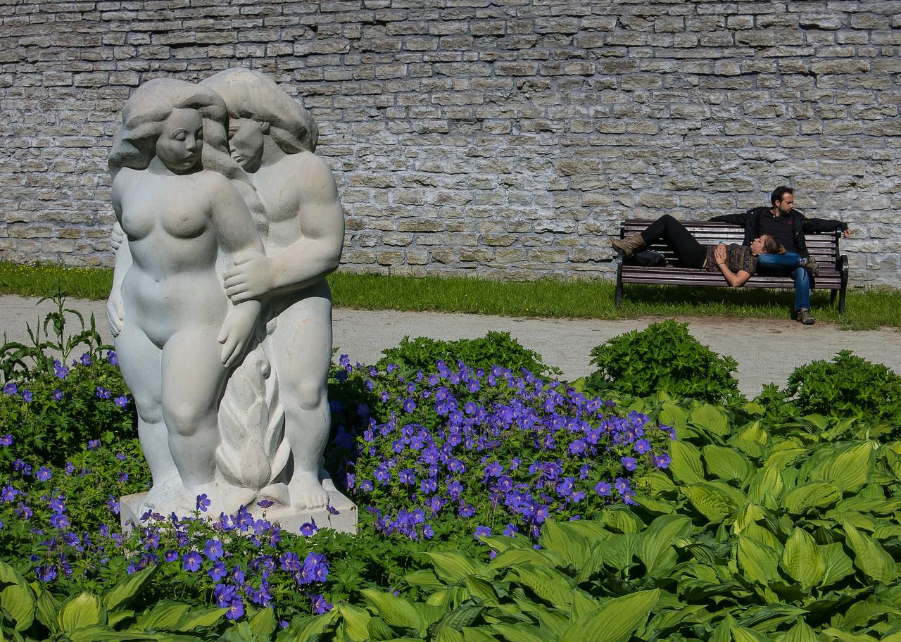 Park bench, Tallinn, Estonia