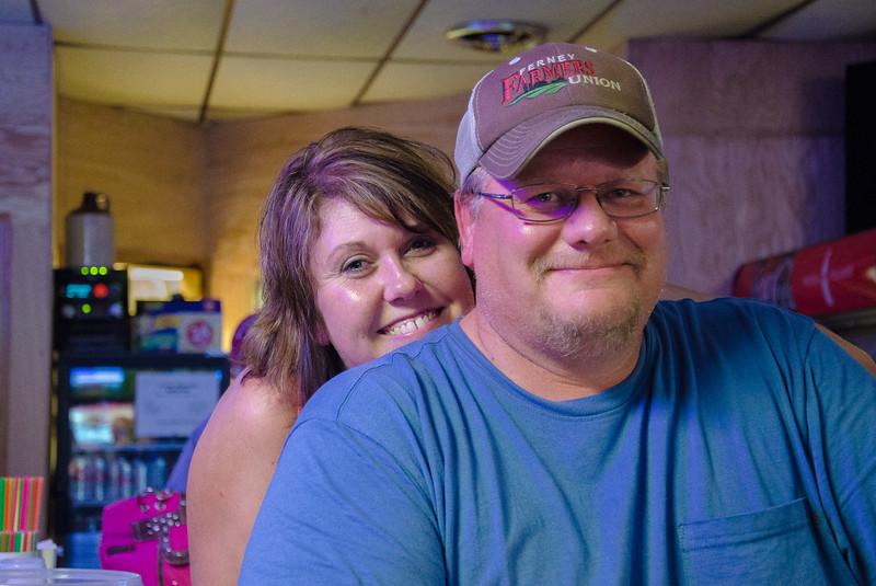 Farmers at the bar, Andover, South Dakota