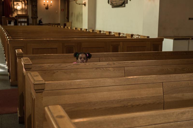 Girl, Santa Klara church, Stockholm, Sweden
