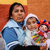 Woman with a baby and doll, San Miguel de Allende, Mexico