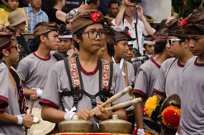 Gamelan Band, Cremation Ceremony, Ubud, Bali