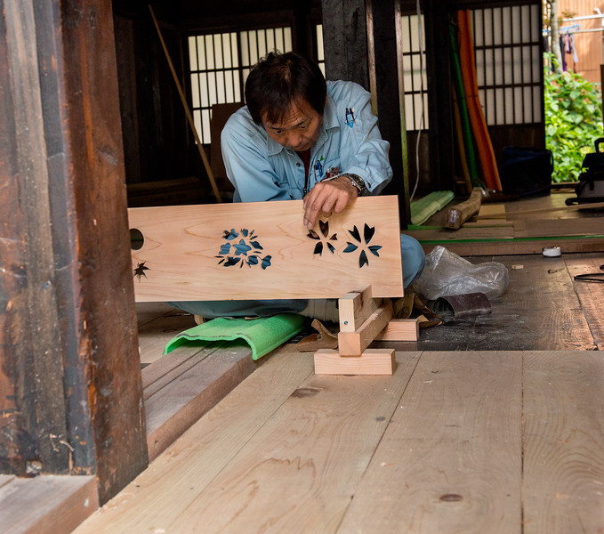 Woodworker, Shirakawa-go, Japan
