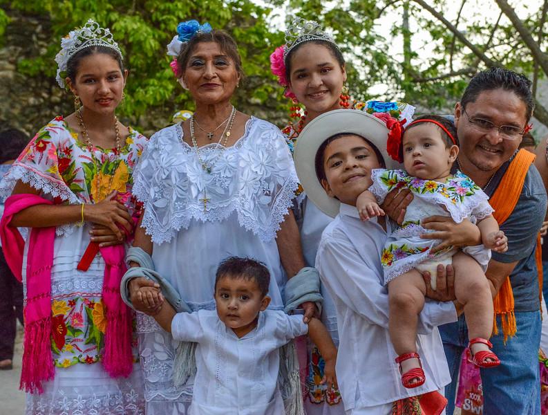 Family portrait, Fiesta, Cedral, Cozumel, Mexico
