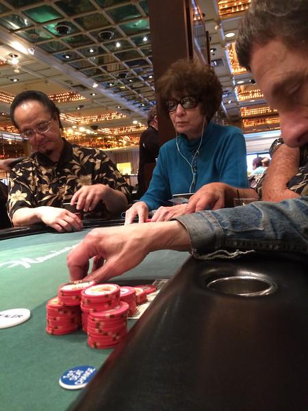 Poker table, The Flamingo, Las Vegas, Nevada
