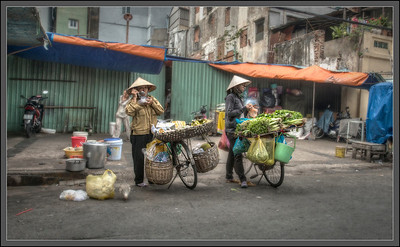 Lunch, Saigon, Vietnam.