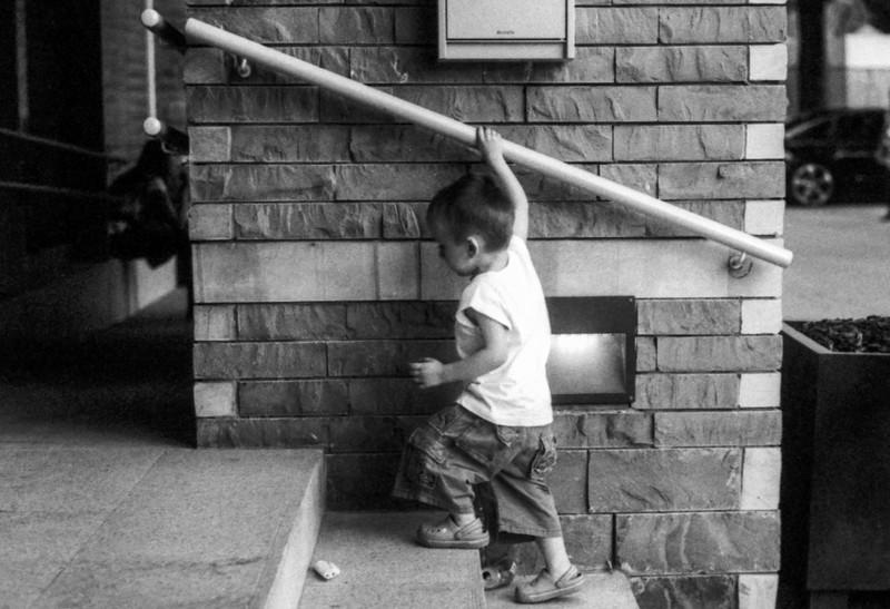 Careful little boy