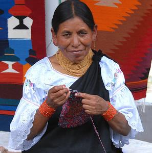 Vendor, Otavalo Market, Ecuador