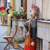 Doll outside a shop in Tallinn, Estonia.