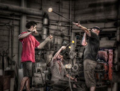 Blowing glass, Halifax, Nova Scotia, Canada, HDR.