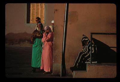Bus stop, Marrakech, Morocco.