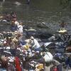 Burkinabe laundry workers outside Abidjan, Ivory Coast.