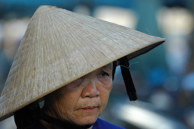Portrait of a woman, Hoi An, Vietnam.