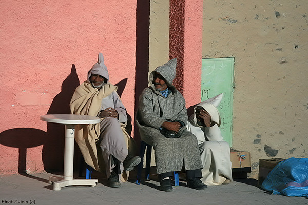 Three Hooded Men<br /> Imilchil, Atlas Mountains