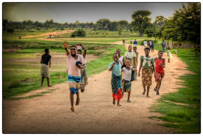 Friendly kids, Likoma Island, Malawi - HDR.