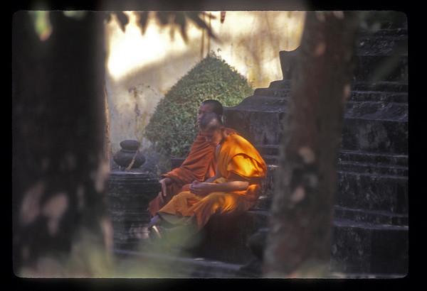Monks at Wat Sisaket near Vientiane, Laos.