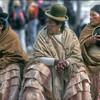 Women in traditional dress, Guachi, Bolivia.