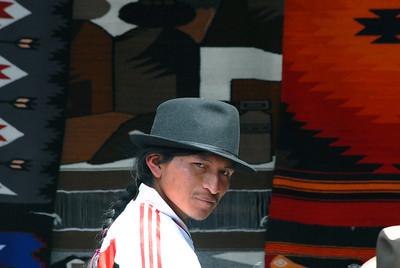 Rug salesman, Otavalo Market, Ecuador