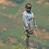 Boy on hillside near Nteko village, Uganda.