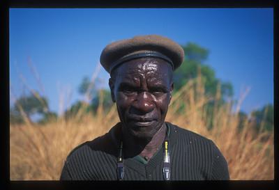 Isaac, game tracker, South Luangwa Park, Zambia.