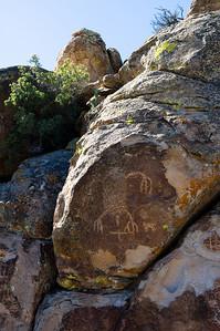 "Petroglyph of ""Pahranagat Man"", Irish Mountains, Hiko, Nevada"