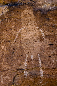 "Petroglyph of  ""Pahranagat Man"", Irish Mountains, Hiko, Nevada"