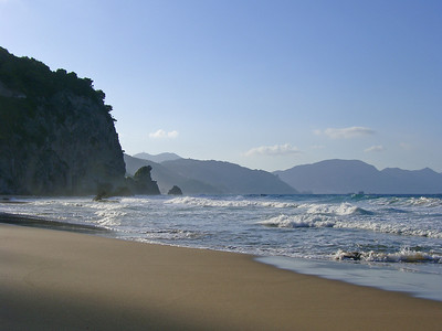 Mirtiotissa bay - we have it all for ourselves :)