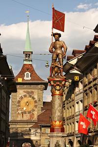 Zähringerbrunnen and Zytglogge in Bern