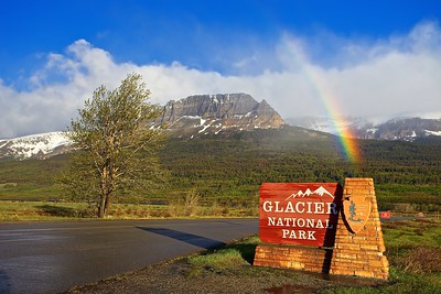 Rainbow at Glacier National Park