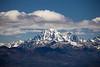 Kittitas, Peoh Point - Mt. Stuart under clouds, color