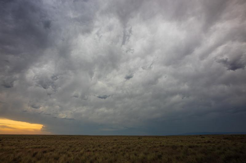 Columbia, Mattawa - Grasssland scene with approaching thunderstorm